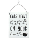 Cats Leave Paw Prints....Metal Sign