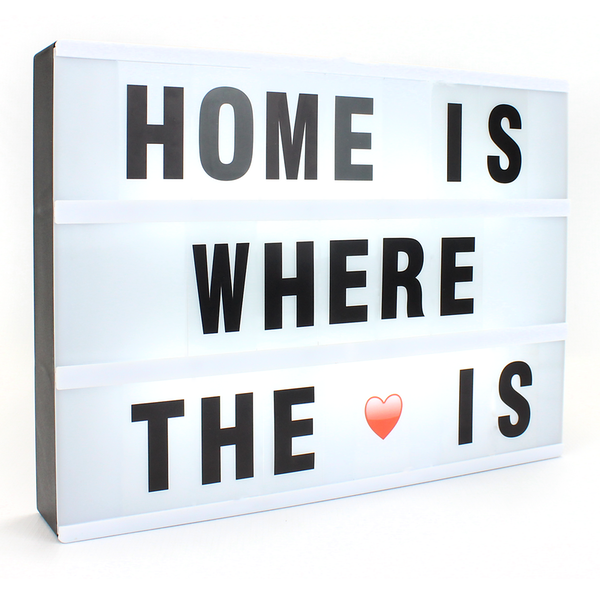 A4 Lightbox with 205 Letters & Emoji | M&W Lightbox - Image 3