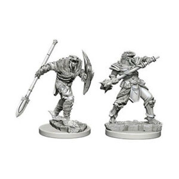 Dungeons & Dragons Nolzur's Marvelous Unpainted Miniatures Dragonborn Male Fighter with Spear