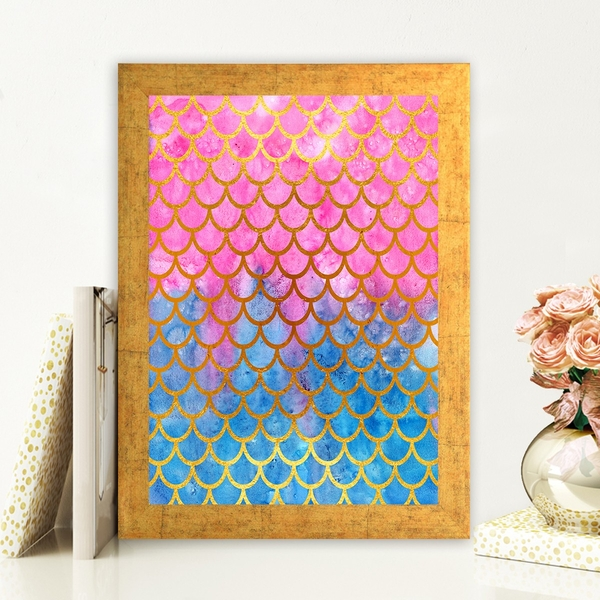 AC714975397 Multicolor Decorative Framed MDF Painting