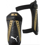 Puma King Universal Shinguards Black/Gold Large