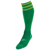 PT 3 Stripe Pro Football Socks LBoys Green/Gold