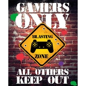 Gamers Only Controller Keep Out Mini Poster