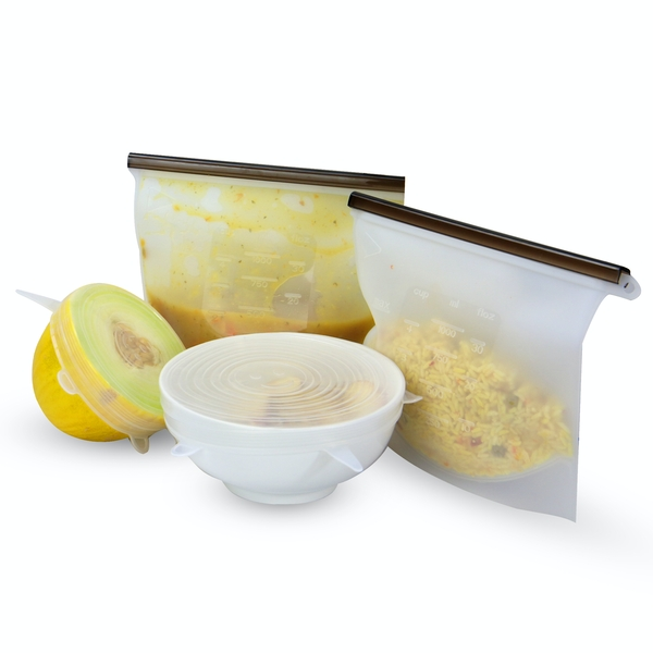Reusable Food Storage Bags & Lids - Set of 12 | M&W