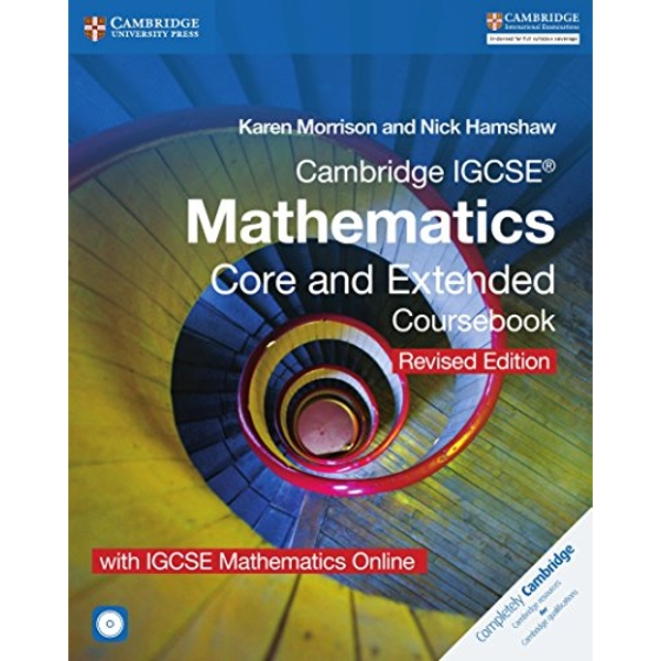Cambridge IGCSE (R) Mathematics Core and Extended Coursebook with CD-ROM and IGCSE Mathematics Online Revised Edition  Mixed media product 2016
