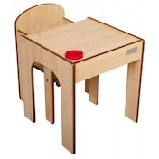 Little Helper Original FunStation Toddler Table & Chair Set (Maple/Natural) 12months +