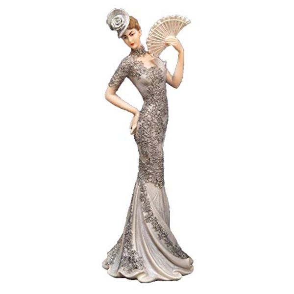 Bolero Collection Lady Figurine in Silver Dress 33.7cm