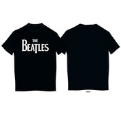 The Beatles - Drop T Logo Kids 11 - 12 Years T-Shirt - Black
