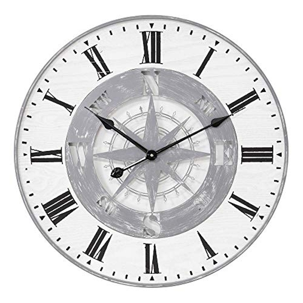 Hometime Metal and Wood Compass Wall Clock 60cm