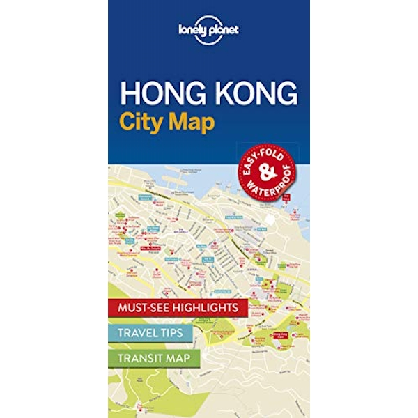 Lonely Planet Hong Kong City Map  Sheet map, folded 2016