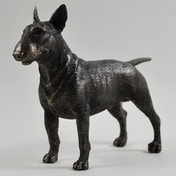 Bull Terrier Cold Cast Bronze Sculpture