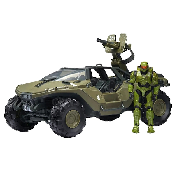 Deluxe Warthog & Master Chief (World Of Halo) Action Figure Set