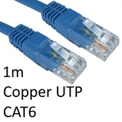 RJ45 (M) to RJ45 (M) CAT6 1m Blue OEM Moulded Boot Copper UTP Network Cable