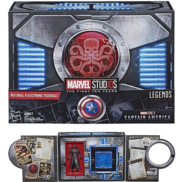 Marvel Red Skull 6in Action Figure and Cosmic Cube Set