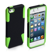 YouSave Accessories iPhone 5 / 5s Mesh Combo Case - Green/Black