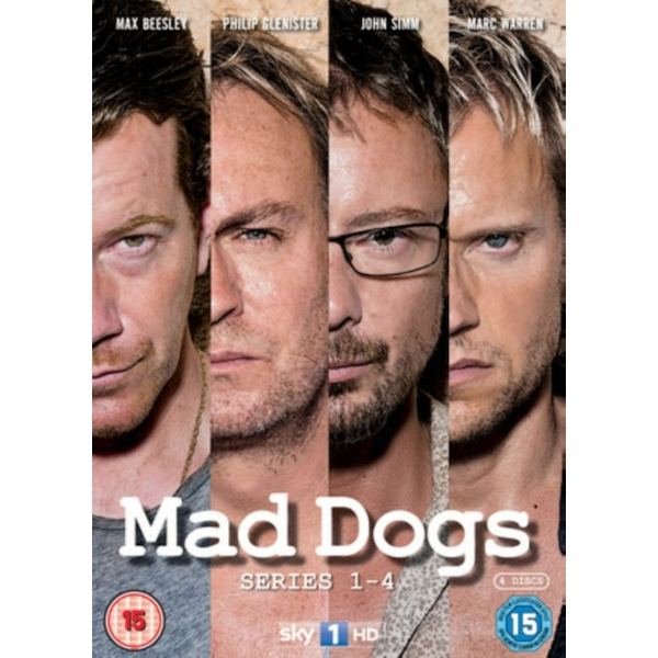 Mad Dogs - Series 1-4 - Complete DVD 4-Disc Set Box Set