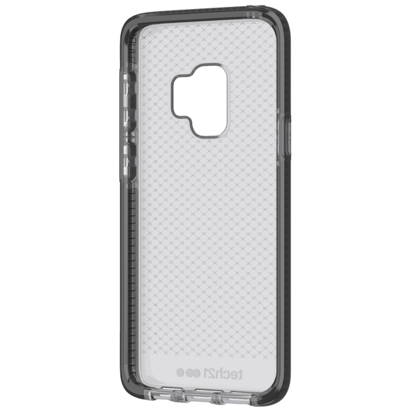 tech21 Protective Samsung Galaxy S9 Case Thin Patterned Back Cover with FlexShock - Evo Check - Smokey Black