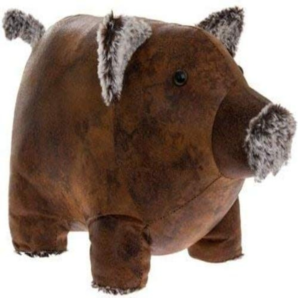 Faux Leather Piggy Doorstop By Lesser & Pavey