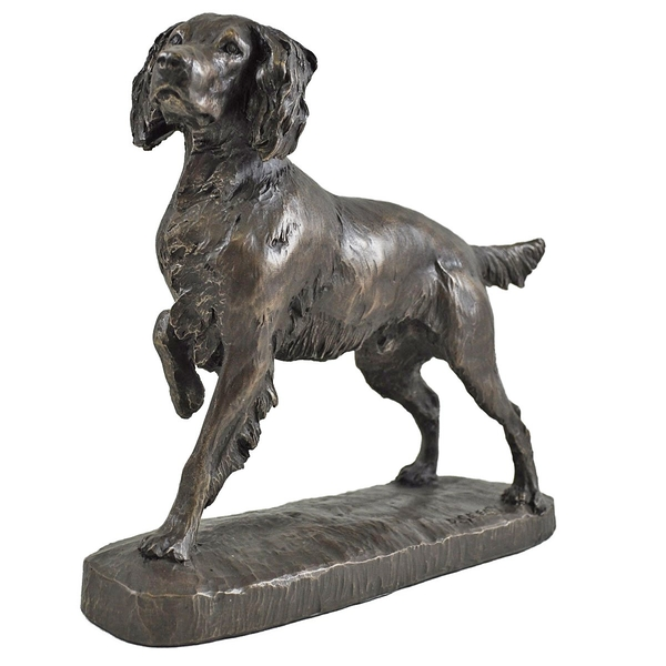 Springer Spaniel by David Geenty Cold Cast Bronze Sculpture