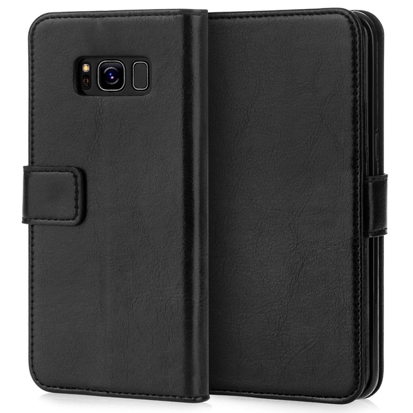 Caseflex Samsung Galaxy S8 Real Leather ID Wallet Case - Black - Image 1