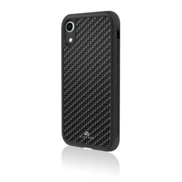 Black Rock - Robust Real Carbon Cover for Apple iPhone XR, black (1 ACCESSORES)