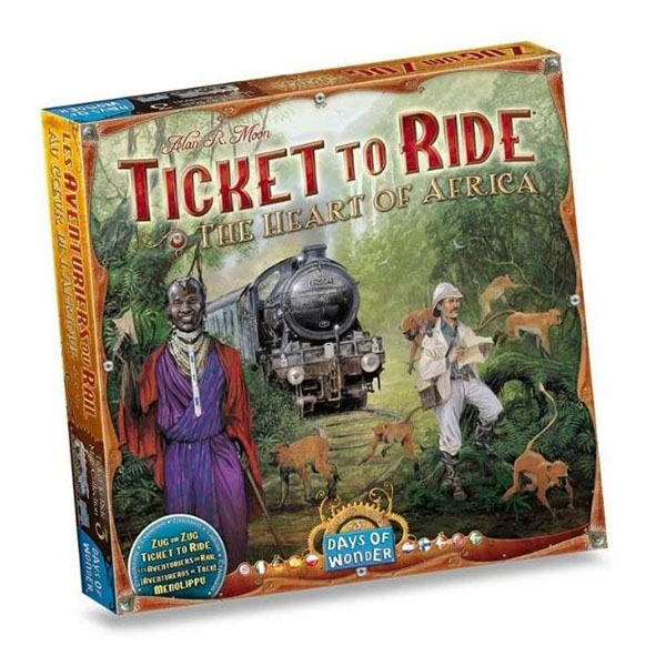 Ticket To Ride Map The Heart of Africa Board Game