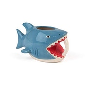Bite Me Shark Shaped Handle Mug