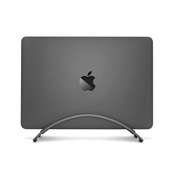 Twelve South BookArc for MacBook | Space-saving vertical desktop stand for Apple notebooks (space grey)*Newest Version*