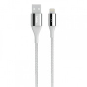 Belkin Duratek Kevlar Lightning to USB Charge and Sync Cable for Apple iPhone 7/7 Plus/6/6S Silver