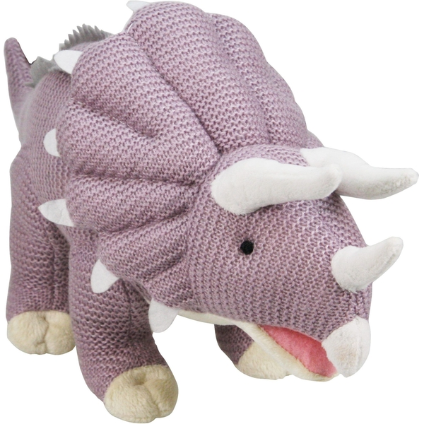 Knitted Triceratops 19 Inch Plush
