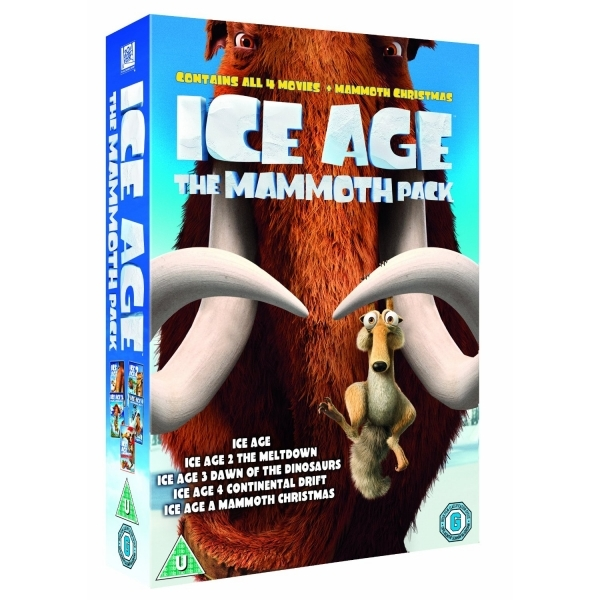 Ice Age 1-4 plus Mammoth Christmas The Mammoth Collection Box Set DVD