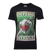 Legend of Zelda - Defend Hyrule Sword & Shield Poster Men's Small T-Shirt - Black