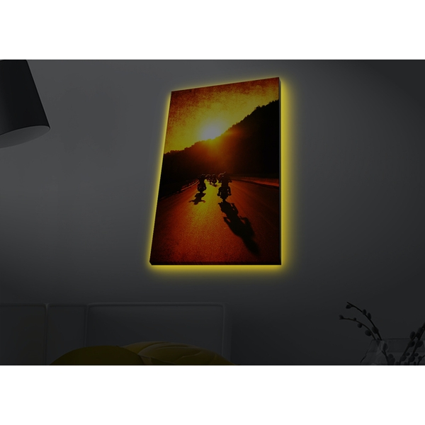 4570MDACT-054 Multicolor Decorative Led Lighted Canvas Painting
