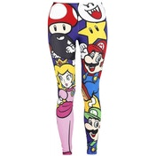 Nintendo Super Mario Bros. Mario and Friends All-Over Print Legging Medium