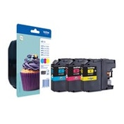 Brother LC-123RBWBP Ink cartridge multi pack, 600 pages, Pack qty 3
