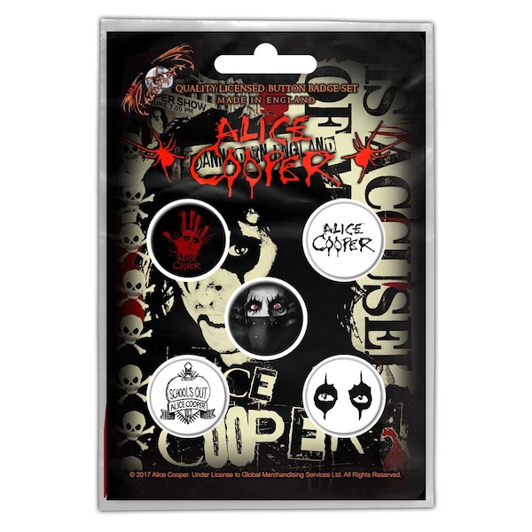 Alice Cooper - Eyes Button Badge Pack