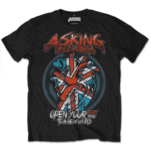 Asking Alexandria - Heart Attack Unisex Small T-Shirt - Black