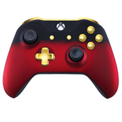 Red Shadow & Gold Xbox One S Controller