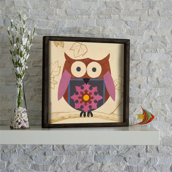 KZM566 Multicolor Decorative Framed MDF Painting