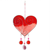 Red/Pink Heart Suncatcher