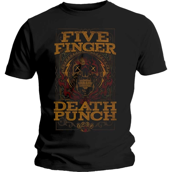 Five Finger Death Punch - Wanted Unisex Small T-Shirt - Black