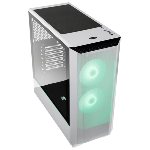 Image of Phanteks Eclipse P360 Air Mid Tower Case Tempered Glass DRGB- Glacier White