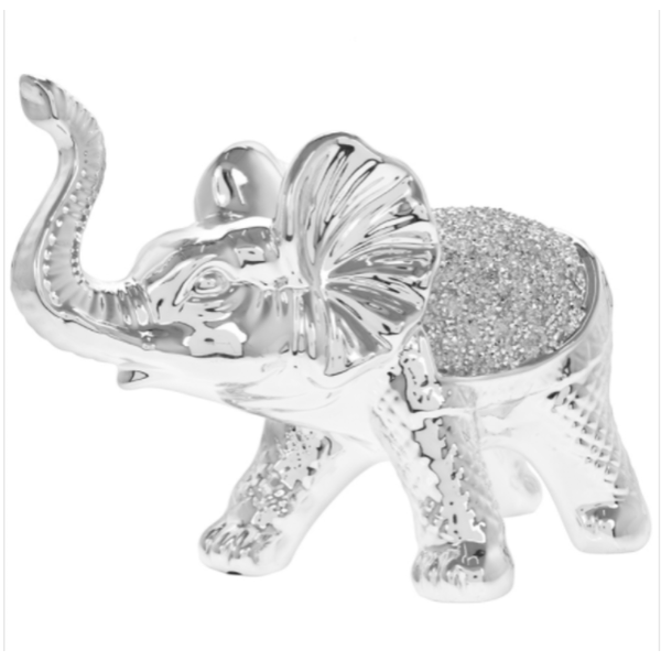 Silver Sparkle Silver Elephant Figurine By Lesser & Pavey