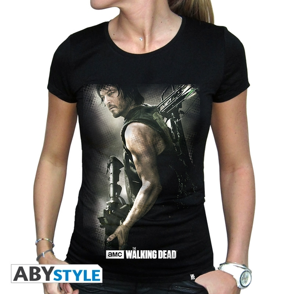 The Walking Dead - Daryl Crossbow Women's Large T-Shirt - Black