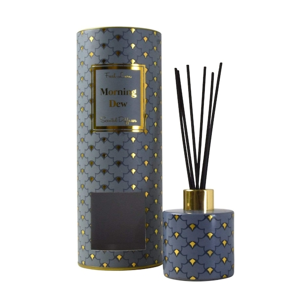 Oriental Heron Reed Diffuser in Gift Box Morning Dew Clean Cotton Scent 150ml
