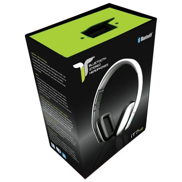 iT7x2 Foldable Wireless Bluetooth Headphones with Near Field Communication NFC White  - Image 4
