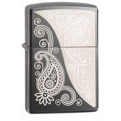 Zippo Paisley Design Black Ice Finish Windproof Lighter