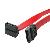 StarTech SATA III (M) to Right-Angled SATA III (M) 0.20m Red Retail Packaged Internal Data Cable