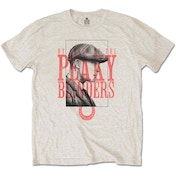 Peaky Blinders - Red Logo Tommy Men's Medium T-Shirt - Sand