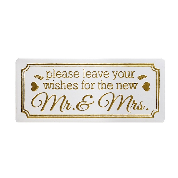 Metal Sign 'Wishes For Mr&Mrs' By Heaven Sends